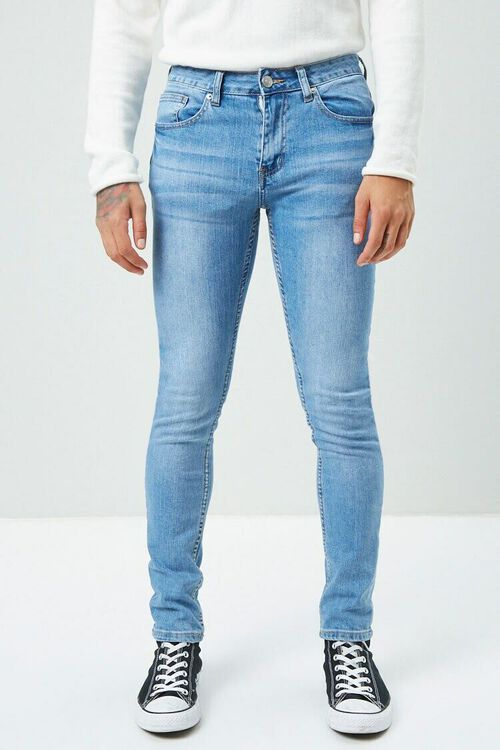 Faded Wash Skinny Jeans, image 2