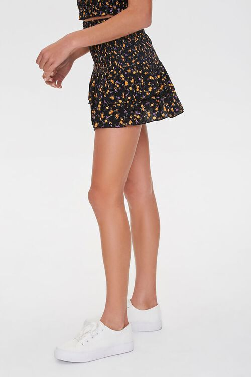 Tiered Mini Floral Skirt, image 3