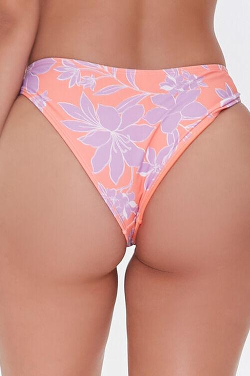 CORAL/MULTI Floral Print Bikini Bottoms, image 5