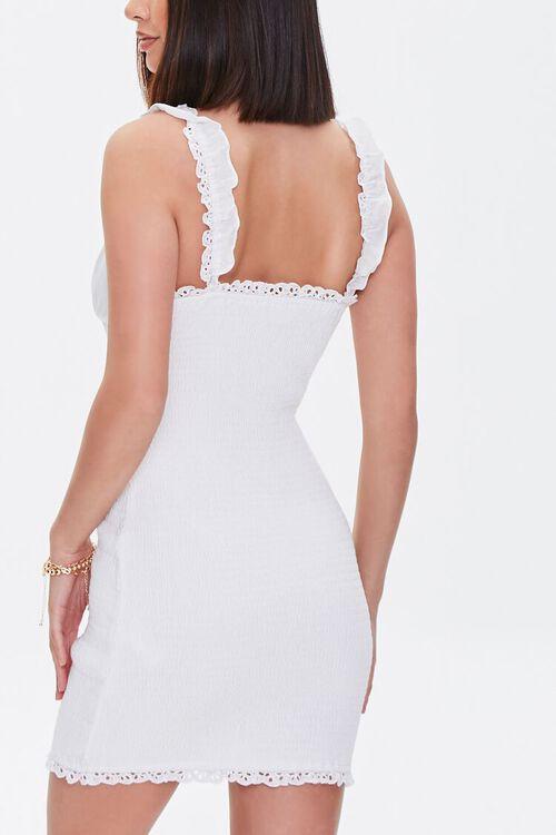 Crochet-Trim Smocked Mini Dress, image 3