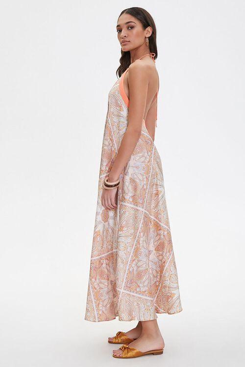 Satin Ornate Print Trapeze Dress, image 2