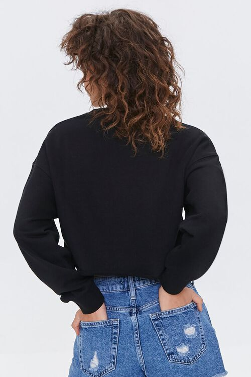 French Terry Drop-Sleeve Pullover, image 3