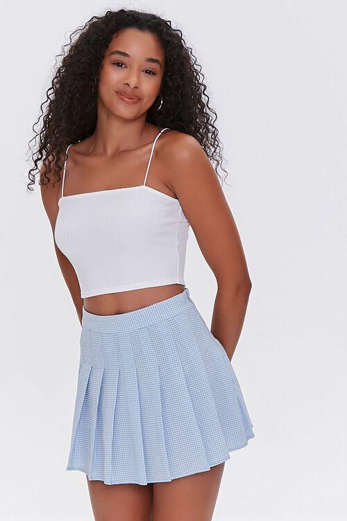 Plaid Pleated Mini Skirt, image 1