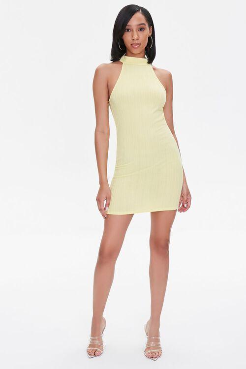 Ribbed Bodycon Mini Dress, image 4