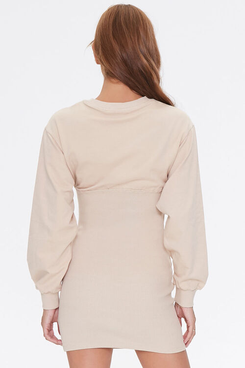 French Terry Bodycon Dress, image 3