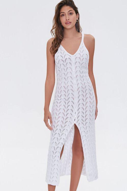 Pointelle Knit Midi Dress, image 1