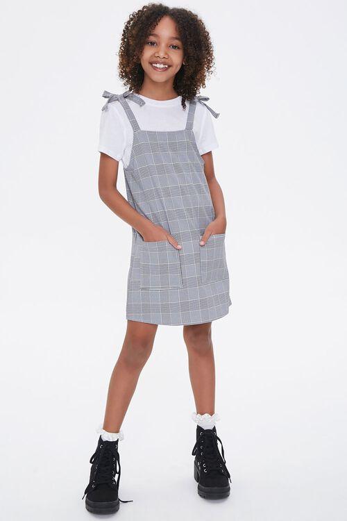 Girls Pinafore Plaid Dress (Kids), image 4
