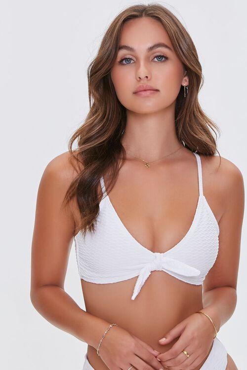 Knotted Bralette Bikini Top, image 1