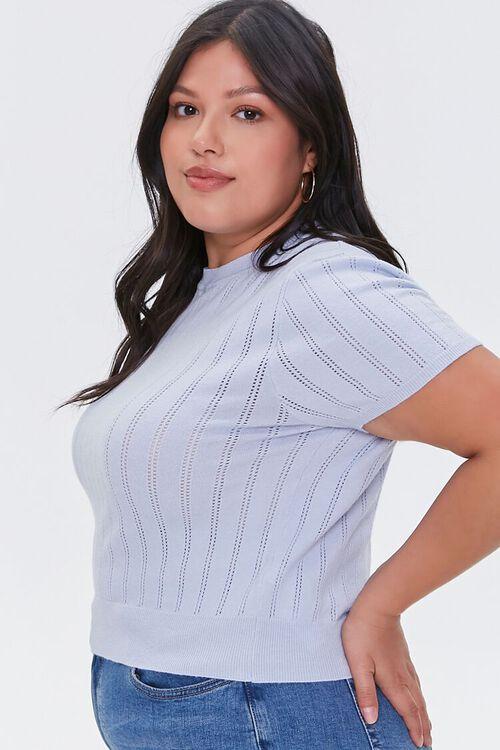 Plus Size Pointelle Sweater-Knit Tee