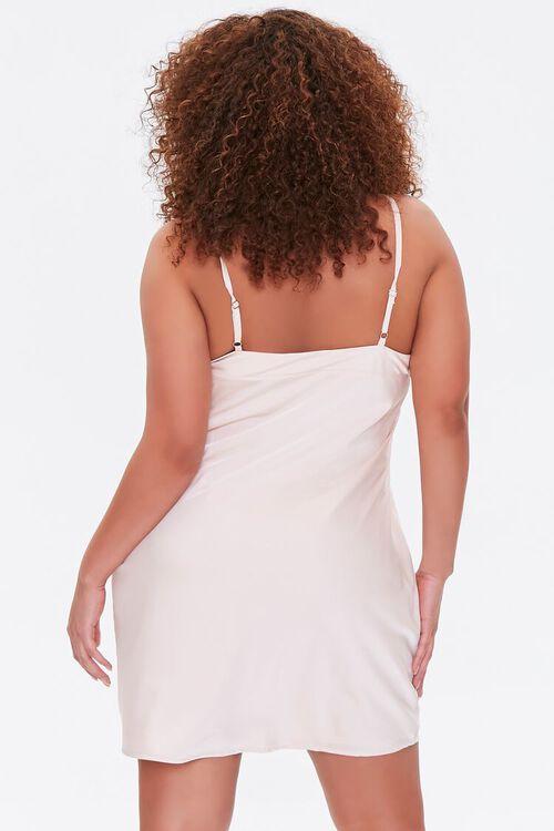 Plus Size Satin Slip Dress, image 3