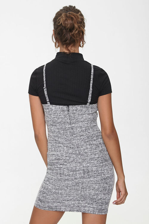 Marled Bodycon Twofer Dress, image 3