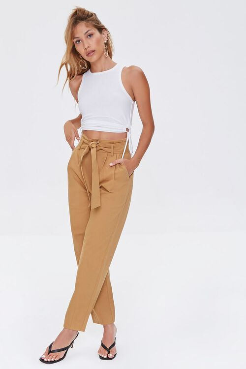 Pleated Straight-Leg Pants, image 1