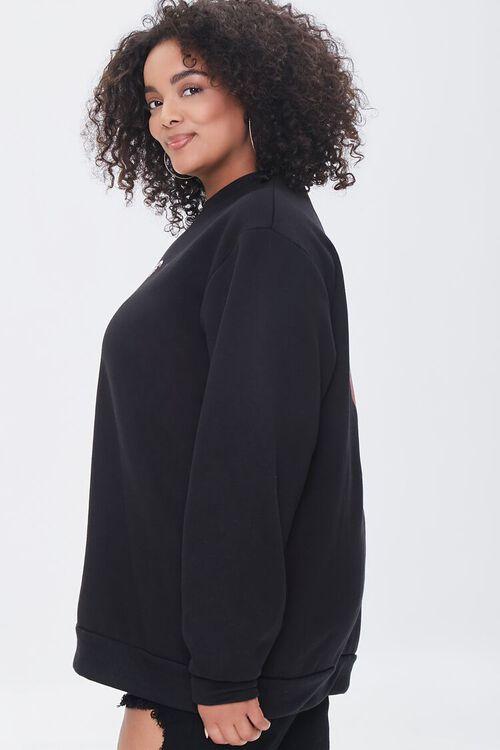 BLACK/MULTI Plus Size Bite Me Vampire Pullover, image 3