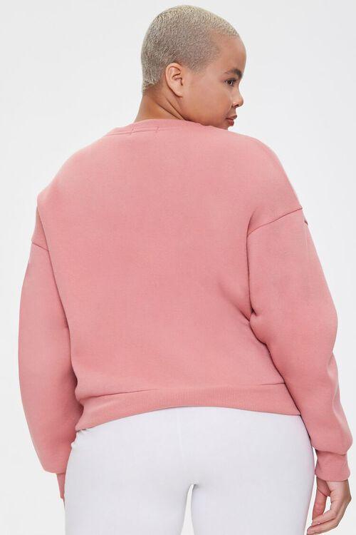 Plus Size Fleece Crew Neck Sweatshirt, image 3