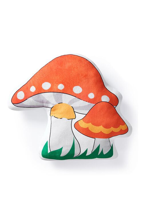 ORANGE/MULTI Mushroom Throw Pillow, image 2