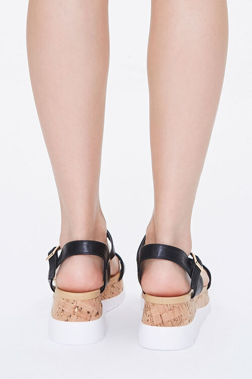 Faux Leather Cork Wedges, image 3