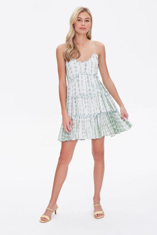 Tie-Dye Fit & Flare Dress, image 4