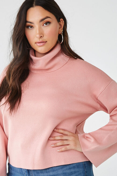Plus Size Turtleneck Sweater, image 1