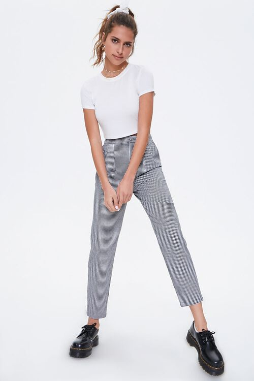 Gingham Cropped Pants, image 5