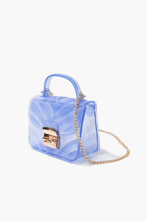 BLUE Quilted PVC Crossbody Bag, image 2