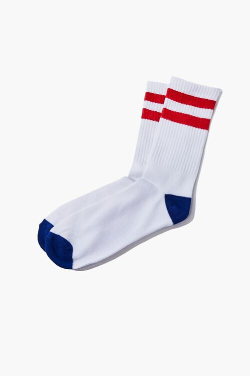 Varsity-Striped Crew Socks, image 2