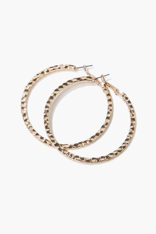 Hammered Hoop Earrings, image 1