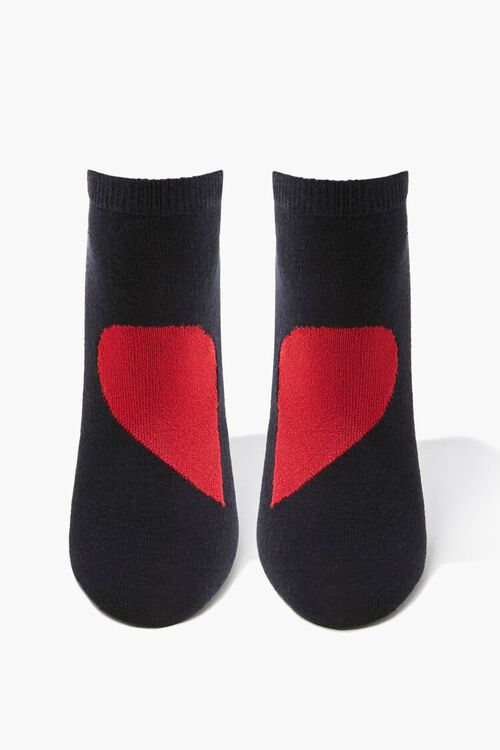 Heart Graphic Ankle Socks, image 1