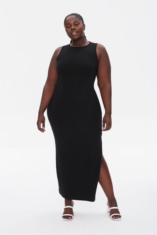 BLACK Plus Size Maxi Tank Dress, image 5