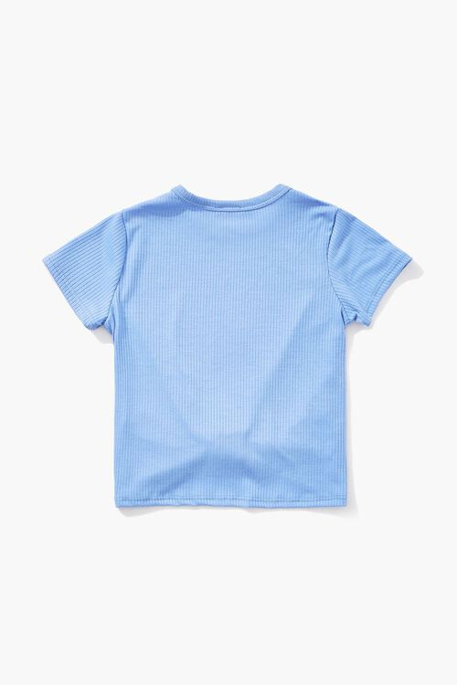 Girls Knotted Ribbed Tee (Kids), image 2