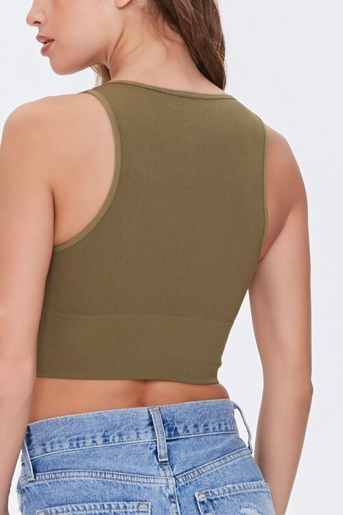 Cropped Ribbed Knit Tank Top, image 3