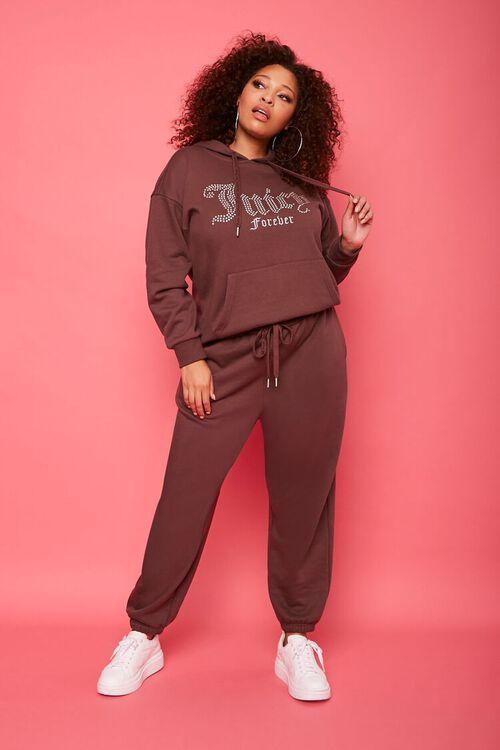 Plus Size Juicy Couture Fleece Joggers, image 1