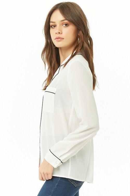 Sheer Pajama-Inspired Shirt, image 2