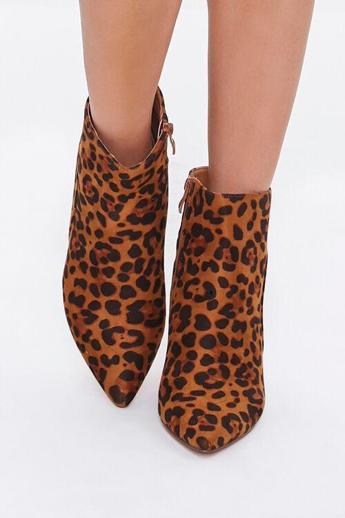 Leopard Print Block Heel Booties, image 4