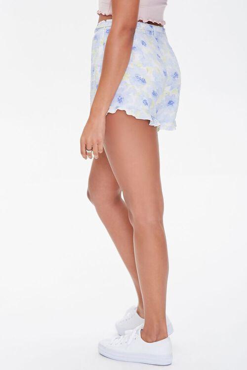 Floral Print Ruffle-Trim Shorts, image 3