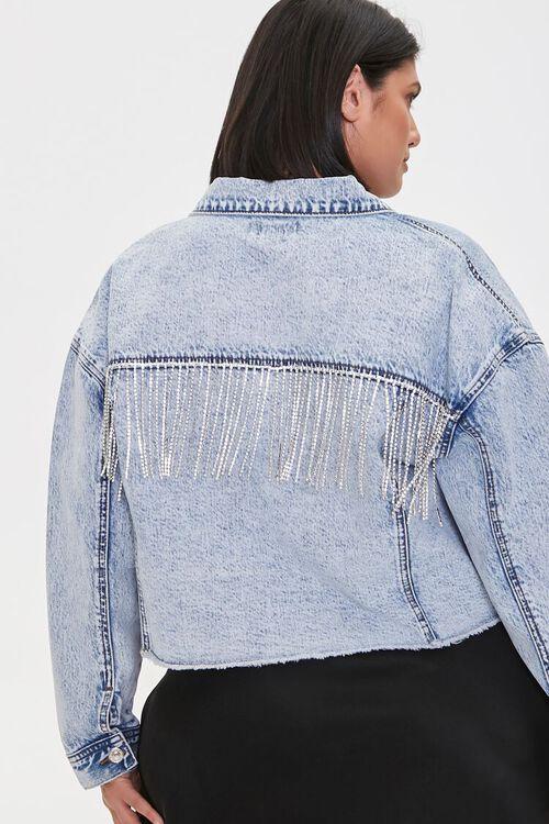 Plus Size Rhinestone Denim Jacket, image 3