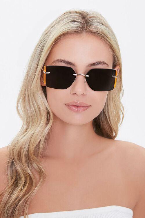 GOLD/BLACK Square Novelty Sunglasses, image 3