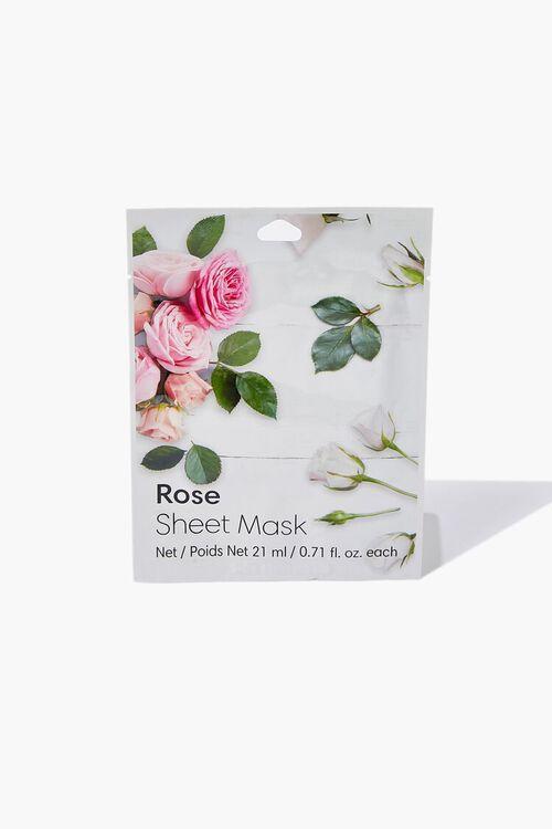 WHITE Rose Sheet Face Mask, image 1
