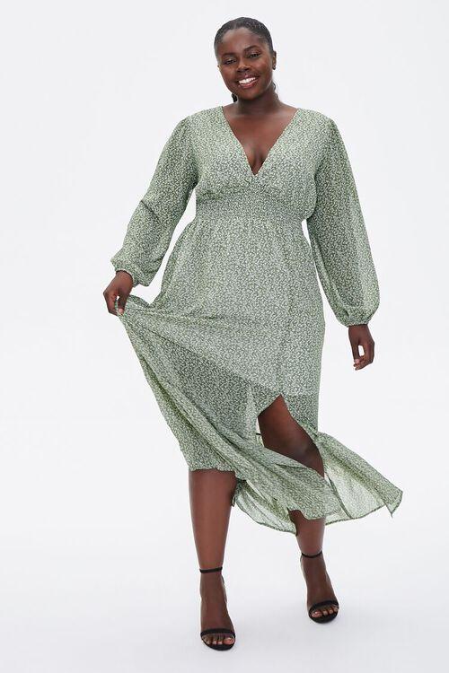 Plus Size Floral Peasant Maxi Dress, image 4