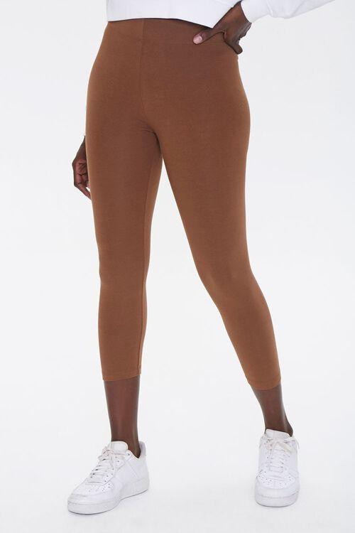 Basic High-Rise Capri Leggings, image 2