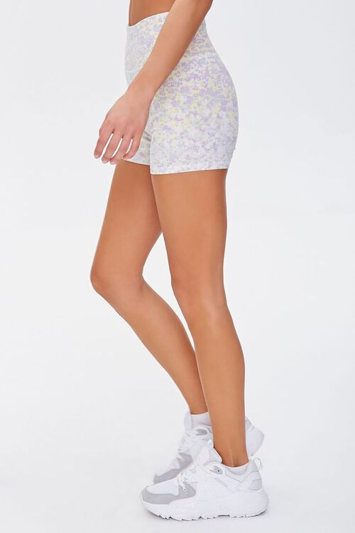 Active Floral Print Biker Shorts, image 3
