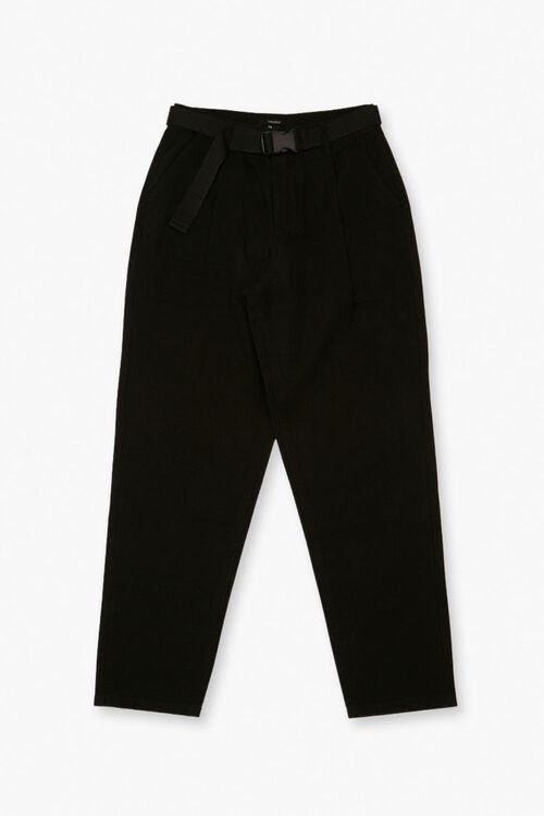 BLACK Belted Ankle Pants, image 1