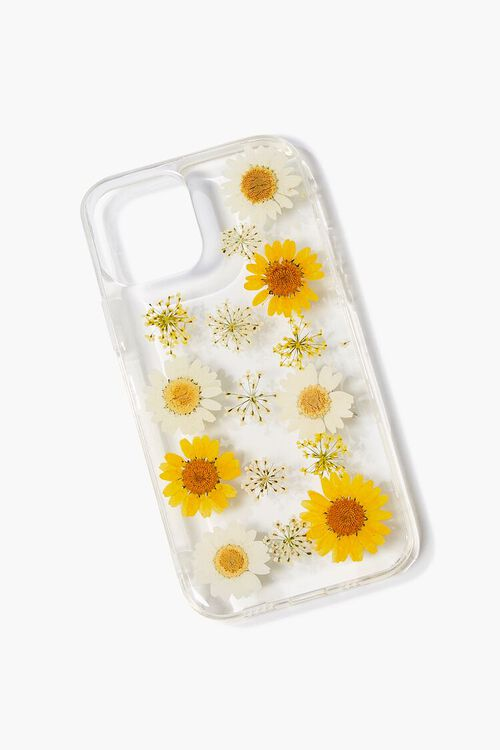 YELLOW/CLEAR Sunflower Case for iPhone 12, image 1