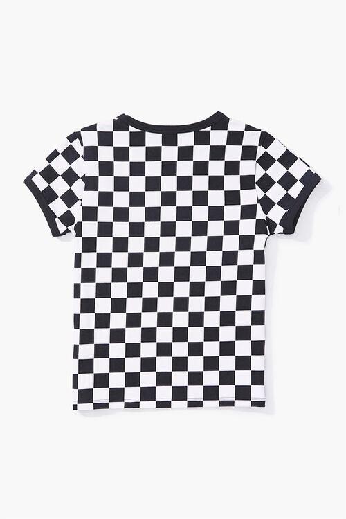Girls Checkered Ringer Tee (Kids), image 2