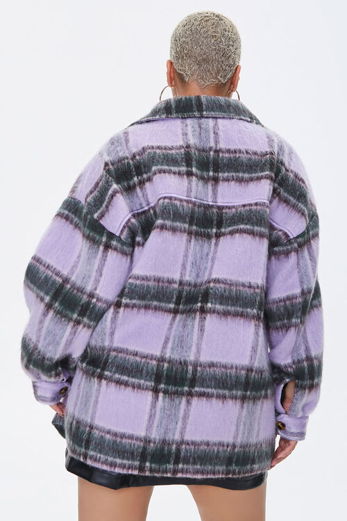 Plus Size Button-Front Plaid Jacket, image 3