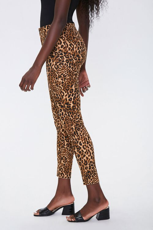 Leopard Print Skinny Jeans, image 3