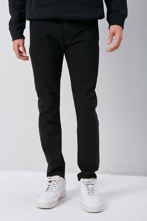 Rhinestone-Trim Skinny Jeans, image 2