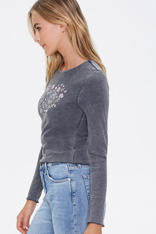 Floral Tiger Graphic Top, image 2