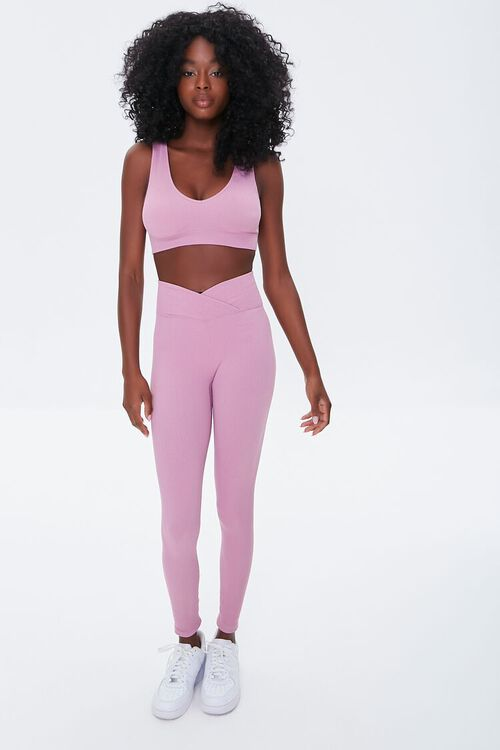 ORCHID Active Seamless Notched Leggings, image 1