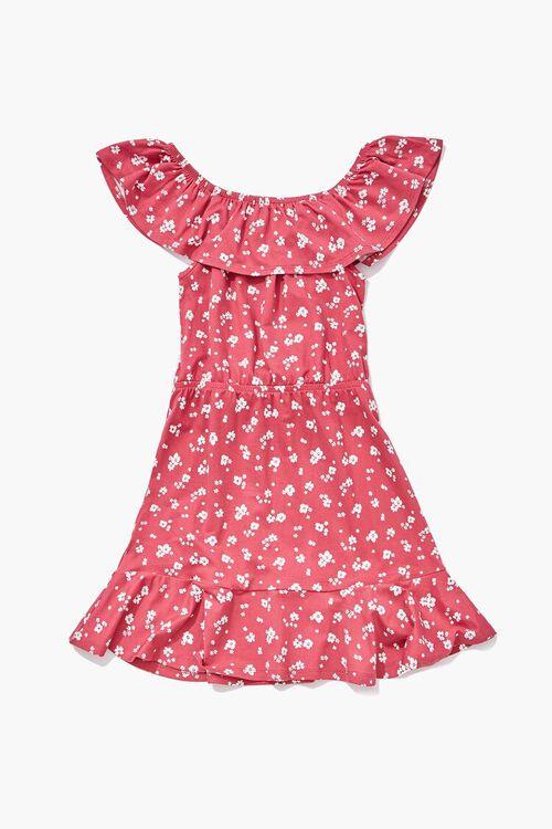 Girls Floral Off-the-Shoulder Dress (Kids), image 2