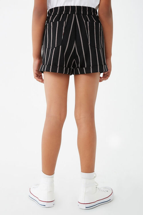 Girls Striped Cuffed Shorts (Kids), image 4